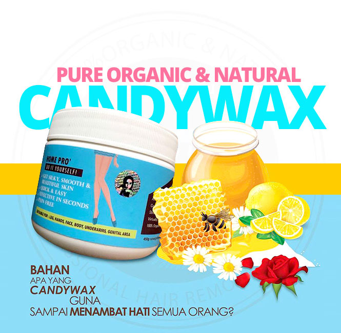 CandyWax - Gel Pencabut Bulu - PURE ORGANIC & NATURAL WAX