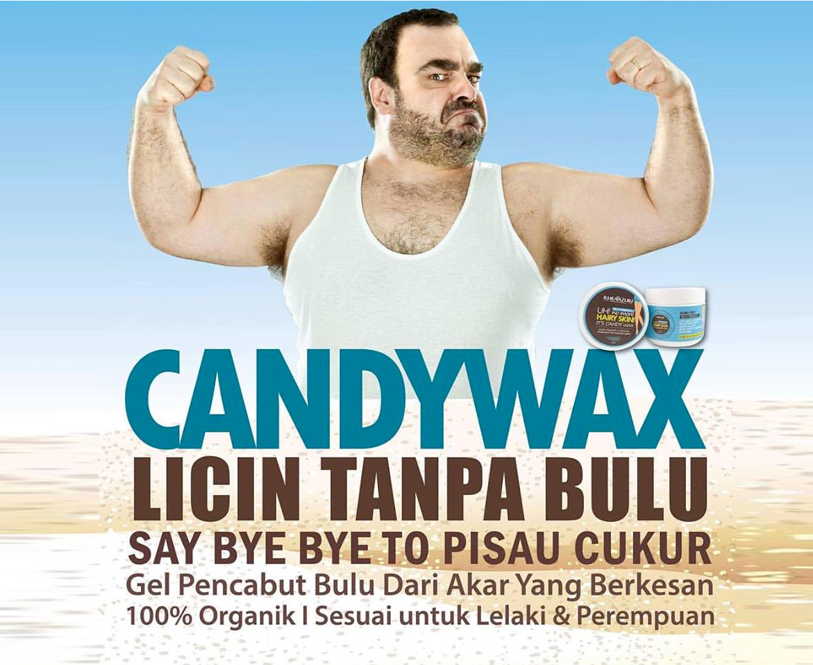 Gel Pencabut Bulu CandyWax - PURE ORGANIC & NATURAL WAX